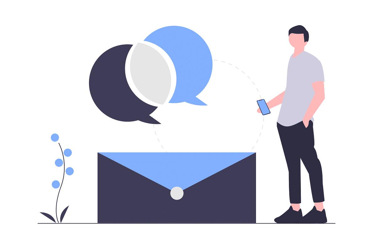 بريد الكتروني، محادثات مباشرة او تراسل نصي