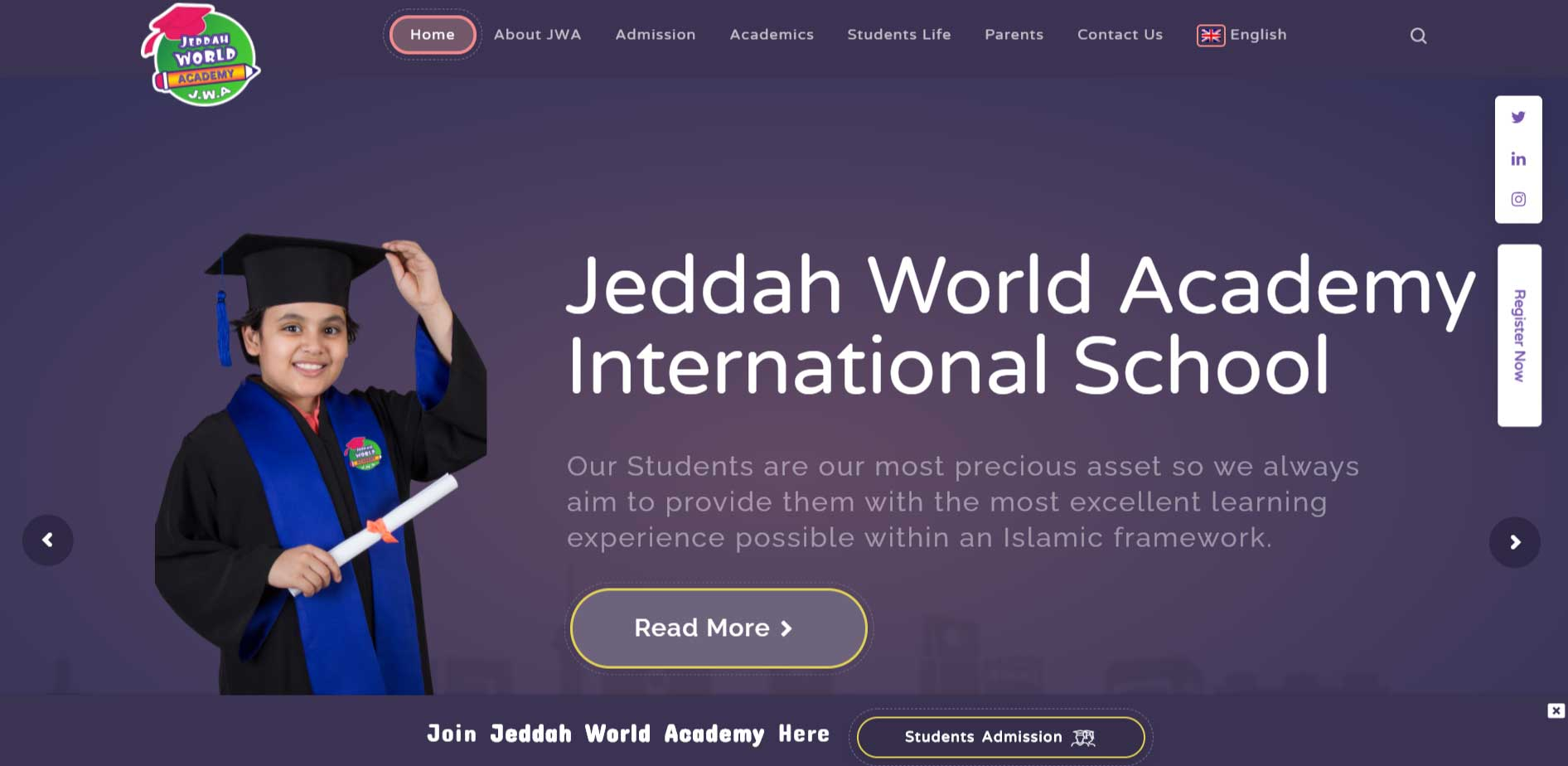 Jeddah World Academy Website